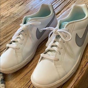 White leather Nike shoes